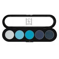 Палитра теней 5 цветов T07 сине-голубые тона, ATELIER, 10гр.