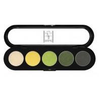 Палитра теней 5 цветов T08 золотисто-зеленые тона, ATELIER, 10гр.