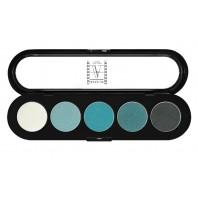 Палитра теней 5 цветов T11 сине-зеленые тона, ATELIER, 10гр.